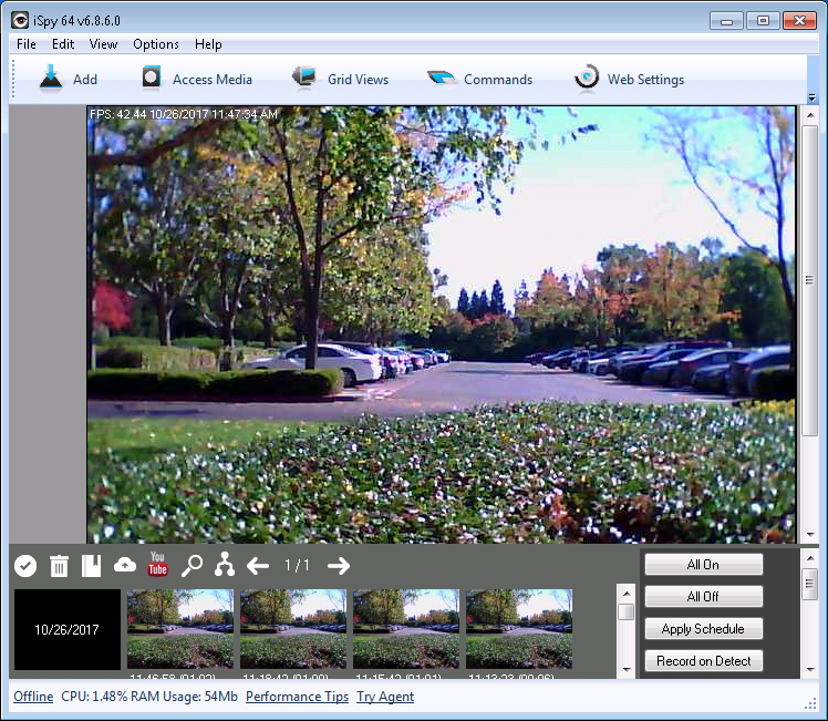 iSpyConnect video surveillance software