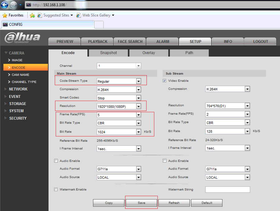 Configure Dahua / SmartPSS DHI-XVR 5104, 5108, 5416, 5432